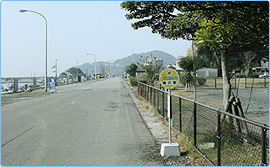 まりんバス「鳩の釜」前バス停周辺